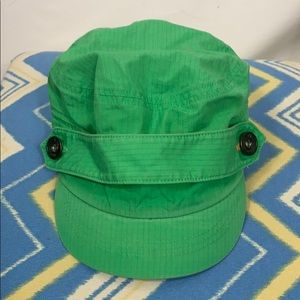 Nike golf green ladies hat with strap on front OS